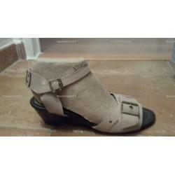 Sandales compensés beige Minelli