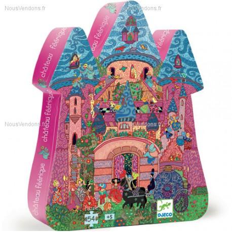 Djeco Chateau Féerique Puzzle 54 pcs