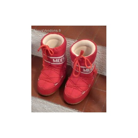 Moon Boots rouge 27-30