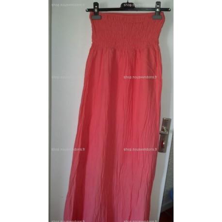Robe longue (Rose/Orange fluo)
