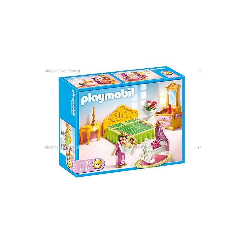 Chambre de la reine avec berceau playmobil 5146 f m for Salle manger playmobil