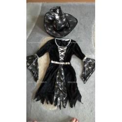 (déguisement) Sorcière + chapeau (3-6 ans, taille S)