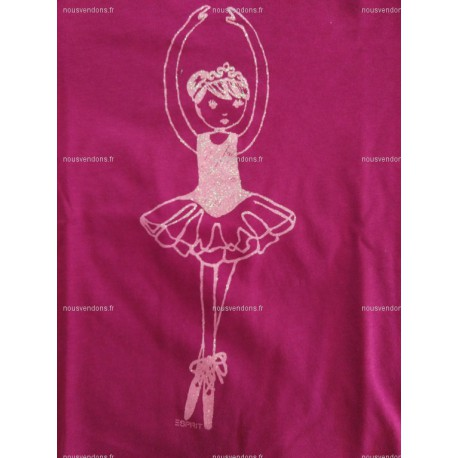 T-Shirt Manches Longues Fushia, 8 ans (Esprit)