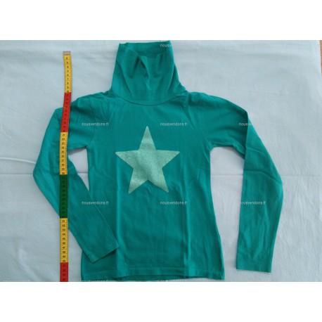 T-Shirt Manches Longues avec Col roulé, vert, 8ans (NKY)