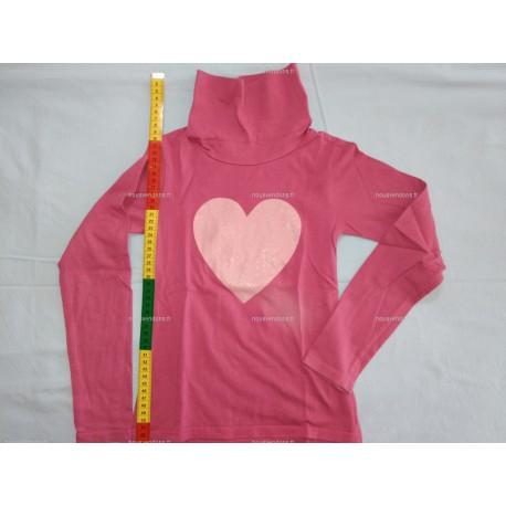 T-Shirt Manches Longues avec Col roulé, violet, 8ans (NKY)
