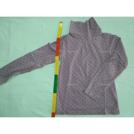 T-Shirt Manches Longues avec Col roulé, mauve à pois, 8ans (NKY)