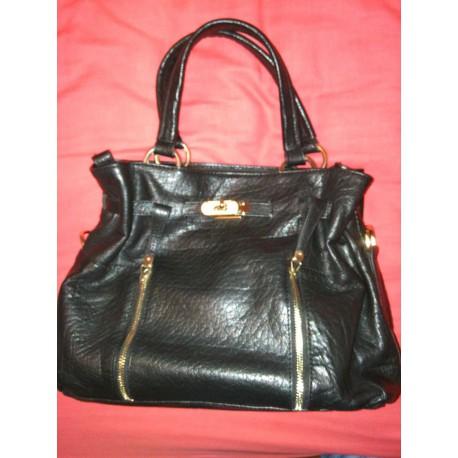 sac cuir noir (Arthur et Aston)
