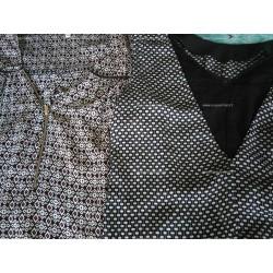 Lot 2 blouses sans manches imprimées
