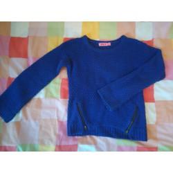 pull bleu lurex (Kiabi)