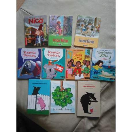 lot 10 livres premières lectures