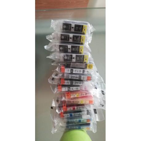 Lot de 15 cartouches d'encre compatible canon